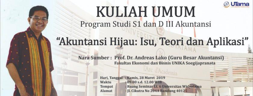 Kuliah Umum Program Studi  S1 Akuntansi