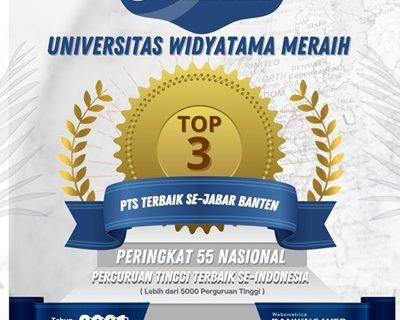 Universitas Widyatama Perringkat ke 3 Se-Jabar Banten